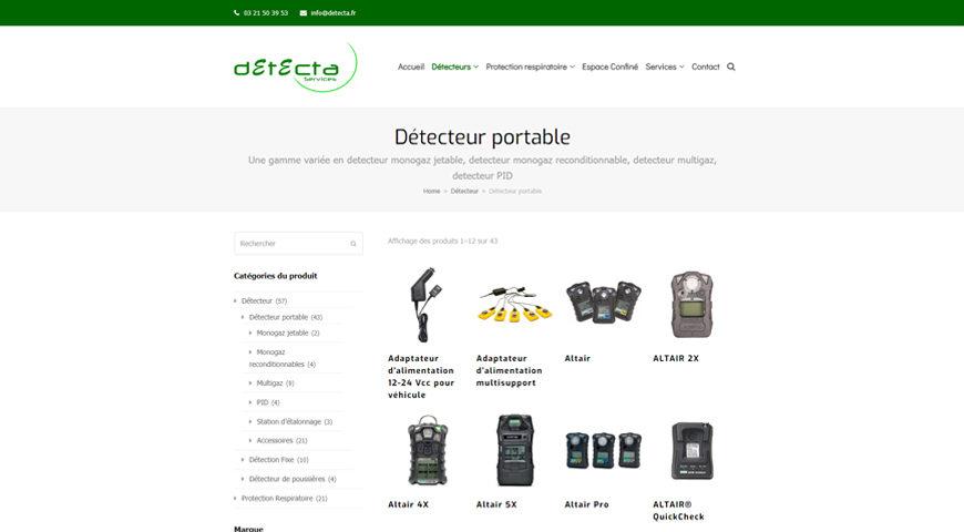 site web Detecta services dtecteur portable