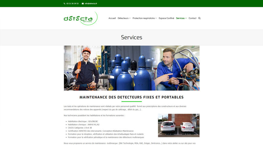 Maintenance detecteur Detecta Services